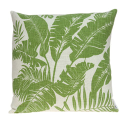 Parkland Collection Decorative Tropical Green Pillow Cover PILD11099C