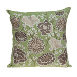Parkland Collection Decorative Tropical Green Pillow Cover PILD11100C