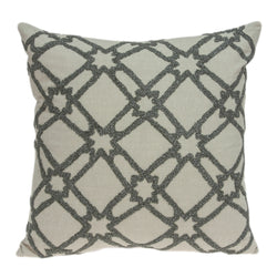 Parkland Collection Decorative Transitional Beige Pillow Cover PILD11104C