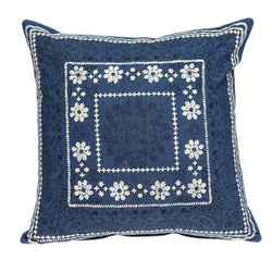 Parkland Collection Decorative Traditional Blue Pillow Cover PILD11118C