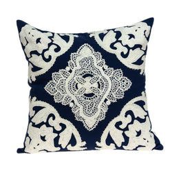 Parkland Collection Decorative Traditional Blue Pillow Cover PILD11120C