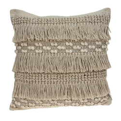 Parkland Collection Decorative Bohemian Beige Pillow Cover PILD11126C