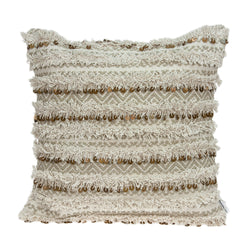 Parkland Collection Decorative Bohemian Beige Pillow Cover PILD11128C