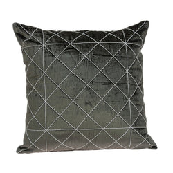Tada Transitional Grey Pillow Cover