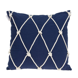 Parkland Collection Decorative Nautical Blue Pillow Cover PILD11142C