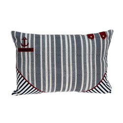 Parkland Collection Decorative Nautical Blue Pillow Cover PILD11145C