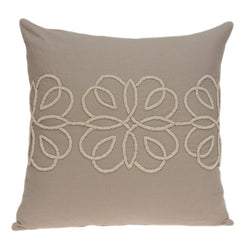Parkland Collection Decorative Transitional Tan Pillow Cover PILD11156C