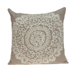 Arlene Traditional Tan Pillow Cover