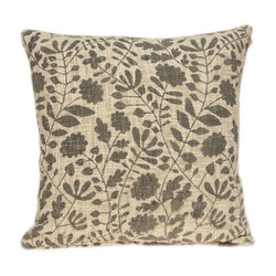 Hina Transitional Beige Floral Print Pillow Cover