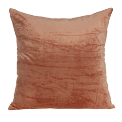 Parkland Collection Decorative Transitional Orange Solid Pillow Cover With Poly Insert PILE11222P