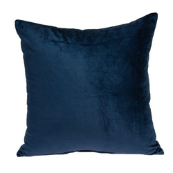 Parkland Collection Decorative Transitional Navy Blue Solid Pillow Cover With Poly Insert PILE11224P