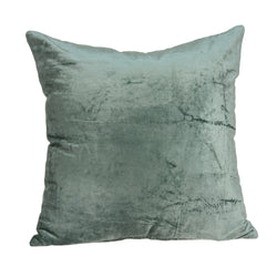 Parkland Collection Decorative Transitional Sea Foam Solid Pillow Cover With Poly Insert PILE11226P