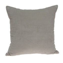 Parkland Collection Decorative Transitional Grey Solid Pillow Cover With Poly Insert PILE11227P