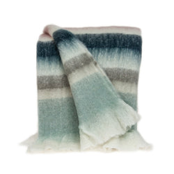 Parkland Collection Transitional Multicolored Handloomed Mohair Wool Throw THRE21008
