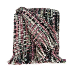 Parkland Collection Transitional Multicolored Handloomed Acrylic Blend Throw THRE21014