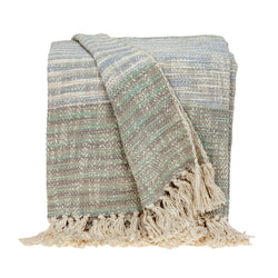 Parkland Collection Multicolored Handloomed Cotton Throw THRE21016