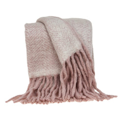 Parkland Collection Multicolored Handloomed Mohair Wool Throw THRE21038
