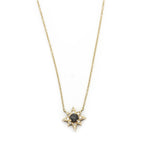 Gold Star with Rose Cut Diamond Necklace