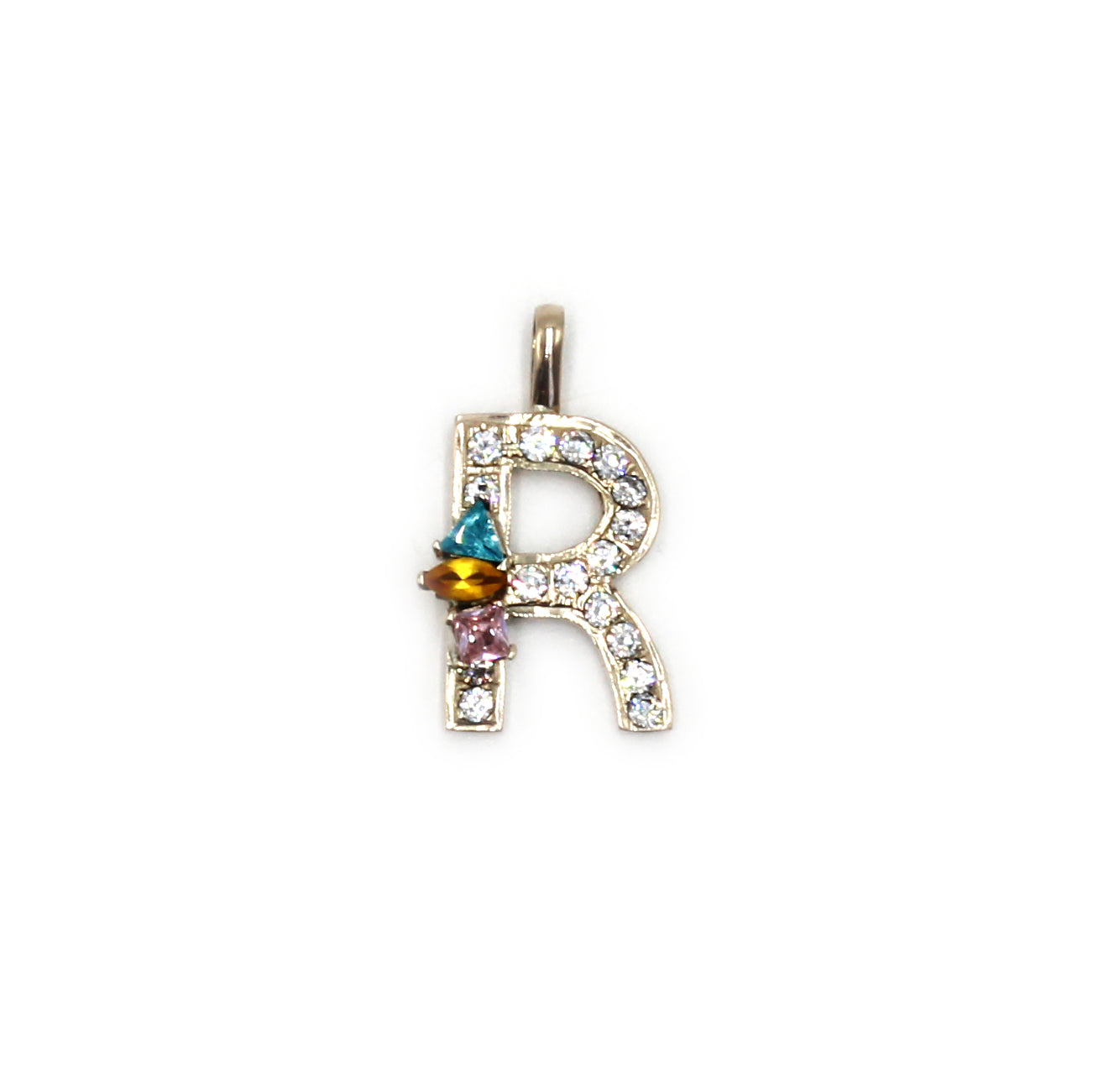 Bejeweled Initial Pendant