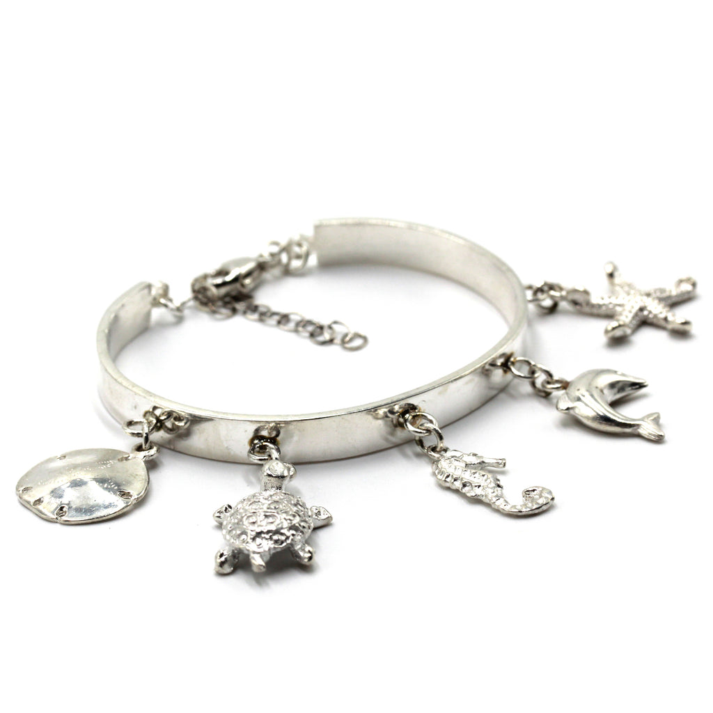 Under the Sea Silver Charm Bracelet