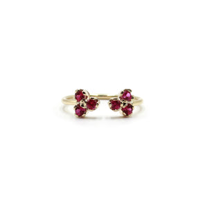 Duo Ruby and Gold Ring