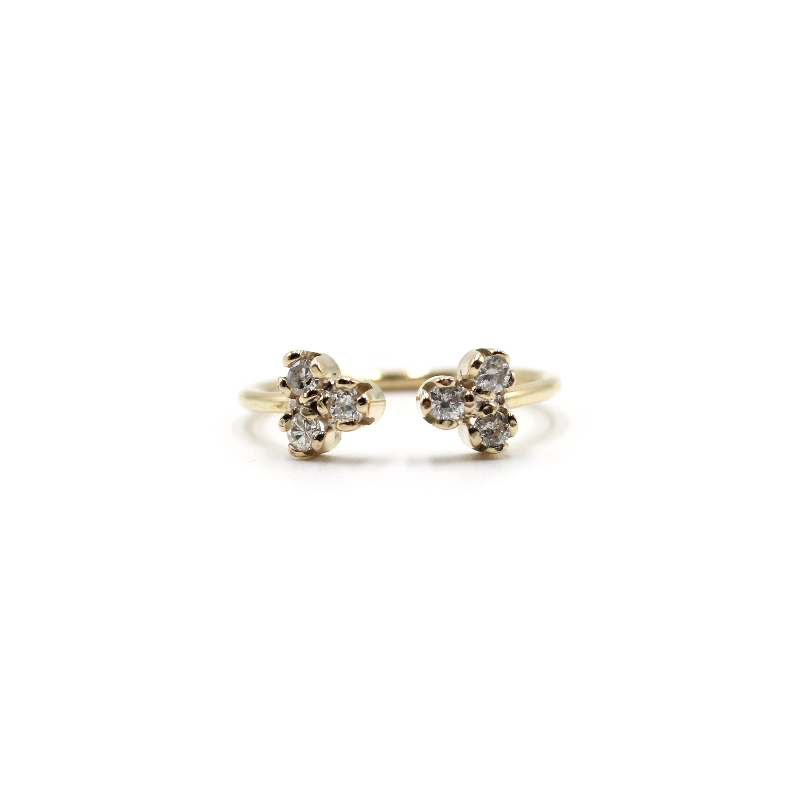 Duo Diamond and Gold Ring