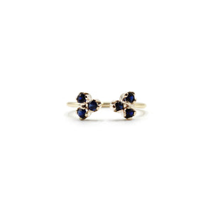 Duo Black Diamond and Gold Ring