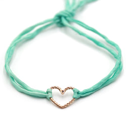 Tied Heart Bracelet in 18k Gold