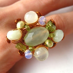 Big Cluster Ring Jewelry Tutorial