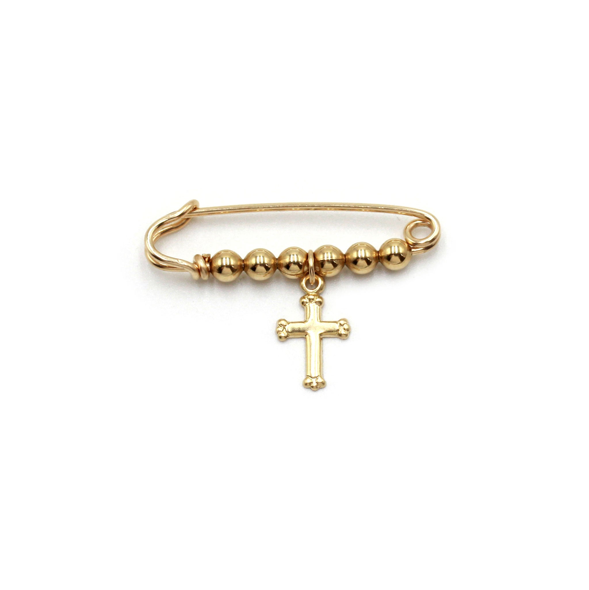 Goldfilled pin with crucifix