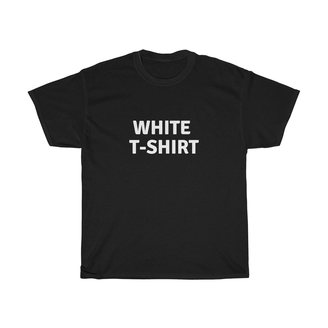White T-shirt Unisex Heavy Cotton Tee