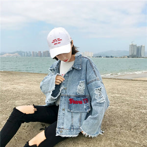 Sassy No Pressure Love Yourself Women's Denim Jacket
