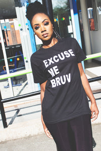 Excuse Me Bruv -Unisex Heavy Cotton Tee