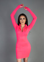 Load image into Gallery viewer, True Sass Neon Mini Dress with Zip