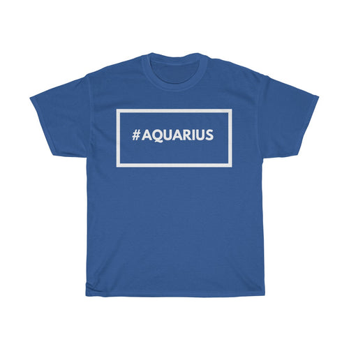 #Aquarius -Unisex Heavy Cotton Tee