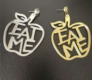 True Sass Eat Me Original Sin Apple Earrings