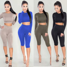 Load image into Gallery viewer, True Sass Bodycon  Crop Top and Leggings 2 Piece