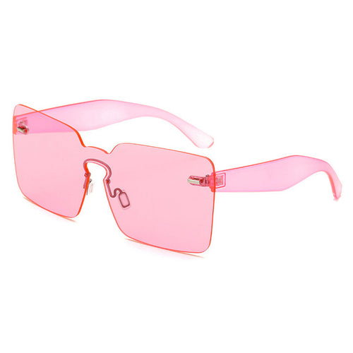True Sass Large Square Rimless Sunglasses