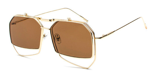 True Sass Aviator Style Flip Steampunk Sunglasses