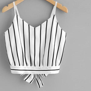 Real Sass Stripe Crop Top