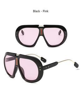 True Sass Oversized Women's Goggle Style Sunglasses