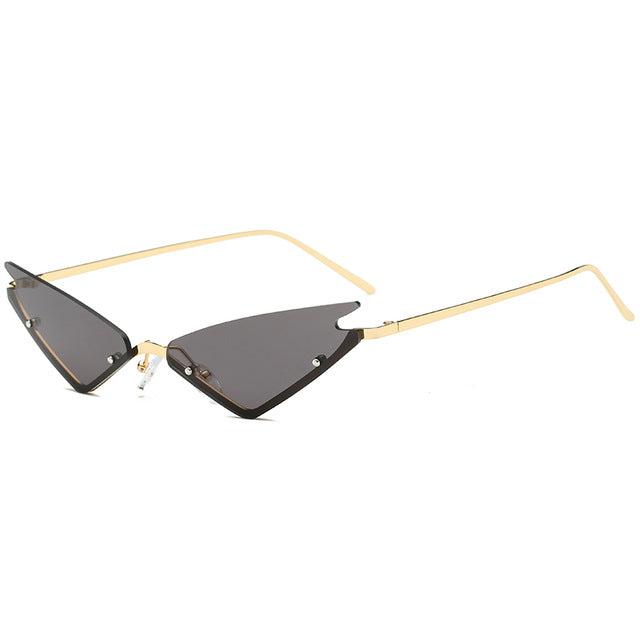 Real Sassy Rimless Cat Eye Sunglasses