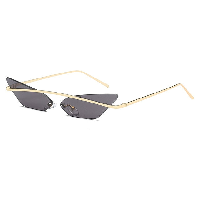 True Sass Rimless Cat-Eye Shades with Gold Line Detail