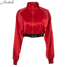 Load image into Gallery viewer, True Sass Red Bomber Jacket