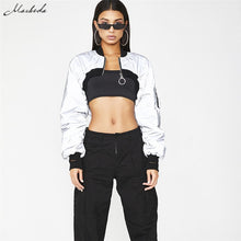 Load image into Gallery viewer, True Sass reflective crop jacket