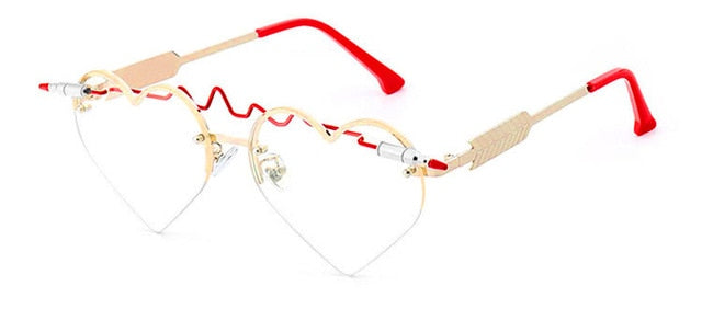 Love Sass Heart Shaped Rimless Glasses