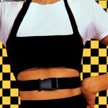 Load image into Gallery viewer, True Sass Buckle Crop Top