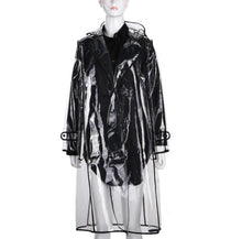 Load image into Gallery viewer, True Sass Women's Transparent Trench Coat Raincoat