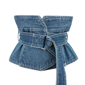 True Sass -Women's Denim High Waisted Belt