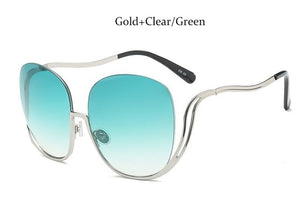 Semi Rimless Gold Frame